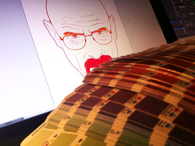 Mr. White Portrait - Choosing Colours vector cmyk pantone breaking bad mr. white color colour rebound progress