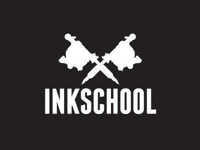 INKSCHOOL Logo Design (in progress) vector inkschool tattoo logo progress black white knockout simple concept capsz