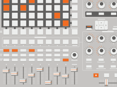 Mystery Poster Crop (WIP) rebound vector orange grey gray electronics apc40 poster illustration wip crop