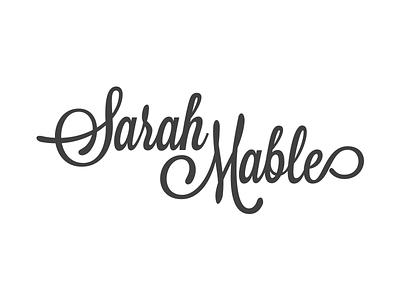 Sarah Mable Logo sarah mable calligraphy lettering logo typography white dark swirl