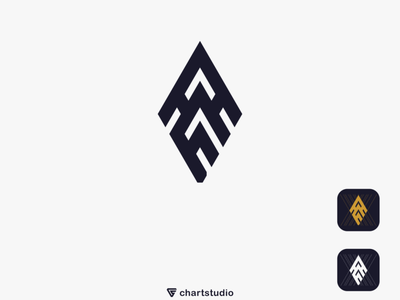 AM logo ux ui vector illustration icon flat app logo design branding