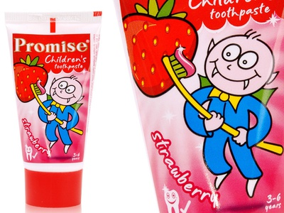 Children toothpaste red illustration toothpaste character packaging