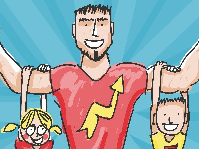 Fathers storyboard vector action children day fathers