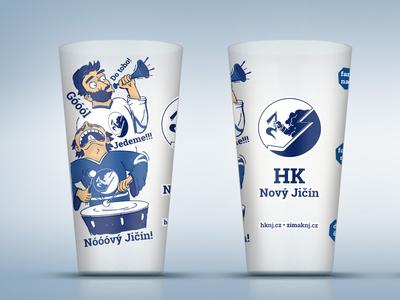 Illustration forNicknack,plastic beer cup crucible sport team hockey cup plastic illustration