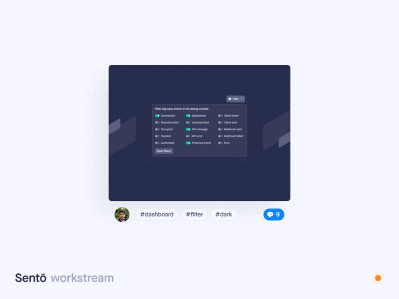 Workstream dashboard comments sharing product design