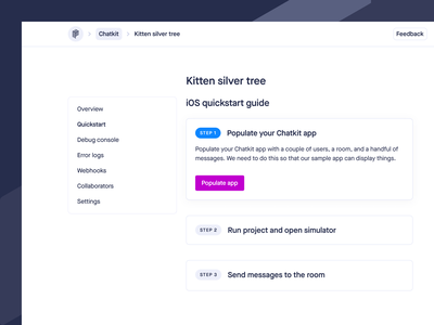 Quickstart Guide code developers ui guide dashboard product