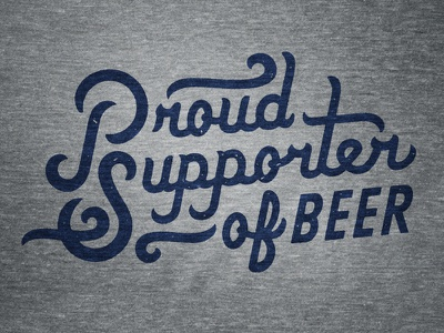 Proud Supporter of Beer beer soccer apparel typography boulevard brewing company sporting kansas city