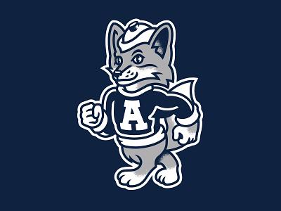 Ash the Fox mascot fox barbershop illustration
