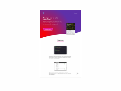 Landing page of a book
