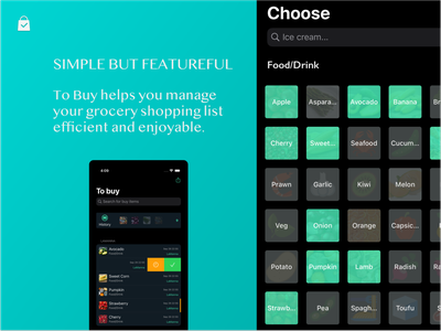 To Buy App - dark mode mobile ios app to buy