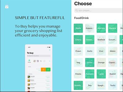 To Buy App - light mode ios app ios mobile to buy