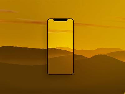 iPhone wallpaper - sunset wallpaper illustration graphic design procreate