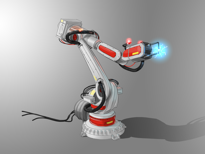 Automotive Robot Concept Design robot futuristic design illustration concept design concept art