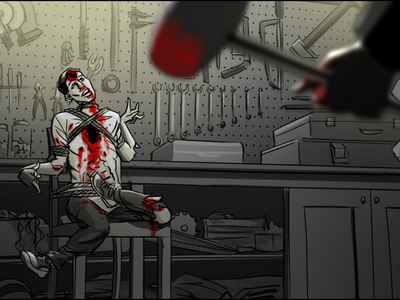 Storyboard for a Horror Series horror series storyboard illustration