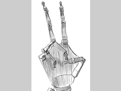 Hand Bone Drawing illustration hand drawing art