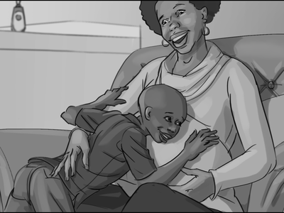 Storyboard for Dettol Commercial greyscale storyboard commercial artistic illustration storyboard dettol
