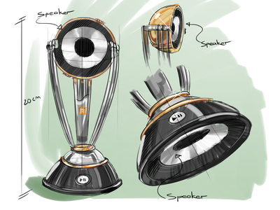 Cricket World Cup Bluetooth Speaker Concept Design illustration photoshop concept design speaker