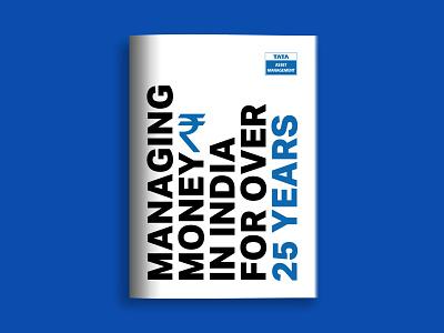 Celebrating 25 years of Tata Asset Management corporate design money book cover cover design design typogaphy corporate stationery design print brochure brochure design