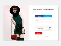 Pop Up for Social Commerce Website
