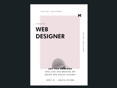 Looking for designers to Join Us webdesign creative job designer poster ad