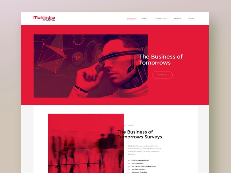 Homepage design websiteinterface ui ux simplicity landingpage corporate website
