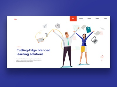A snippet of our upcoming project online education banner illustration ux ui homepage website elearning