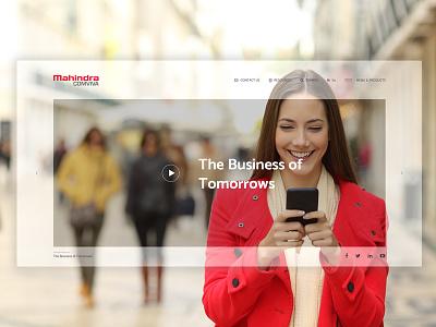 Corporate Website telecom mobile minimal red corporate ux ui homepage website