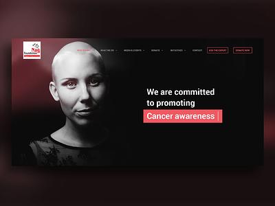 Homepage interface design uidesign charity foundation ui website homepage