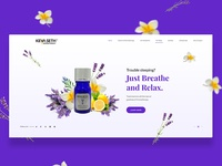 Aromatherapy Website Banner