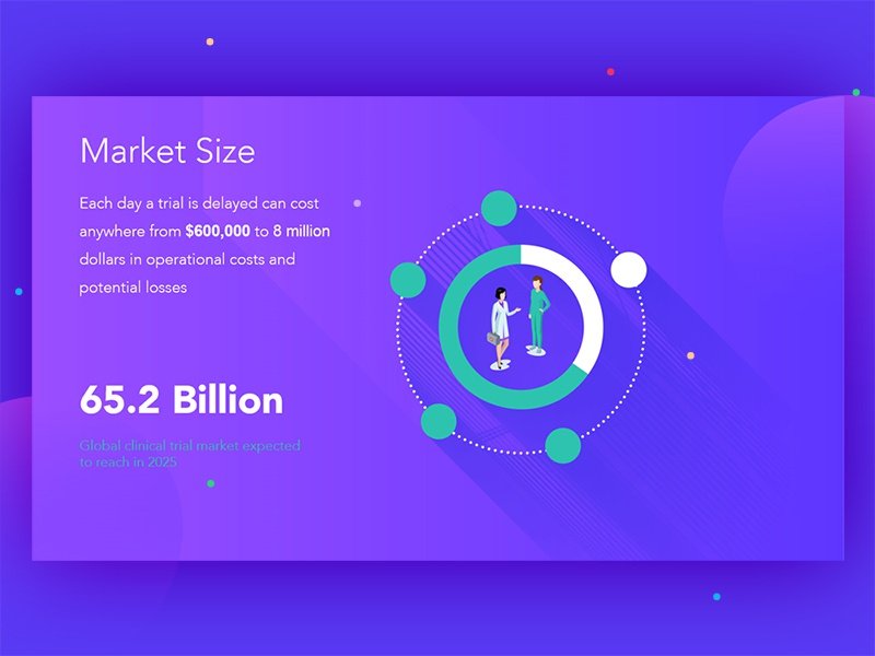 Clinical Trials Infographic WIP gradient purple stats medical multia whitepaper illustration infographic