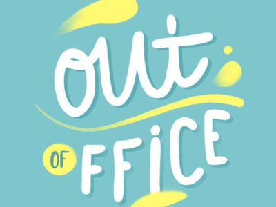 Out of Office soleil procreate ipad pro summer sun beach office lettering out of office ooo holidays type illustration design illustration