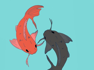 Fishes digital illustration digitalart illustrator drawing artist artwork art illustration