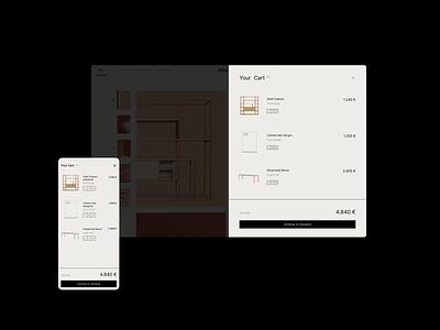 Shopping Cart | Johanenlies flat website minimal app web ux ui design