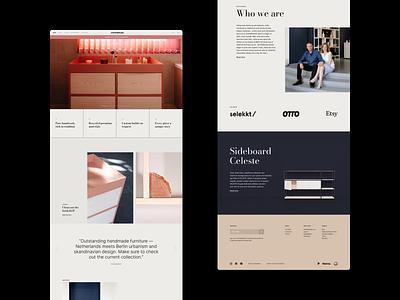 Landing Page | Johanenlies typography branding website ui web flat ux minimal design