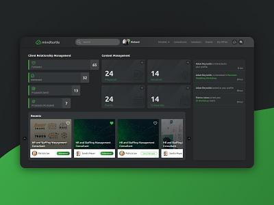 Dashboard Dark Theme adobexd web design solutions dark mode dark ui crm dashboard