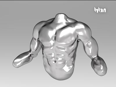 Male Torso mexico hbn sculpture torso male 3d gladiator