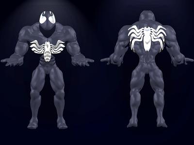 Venom Sculpture marvel mexico sculpture 3d hbn venom