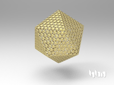 Icosphere mexico hbn model 3d