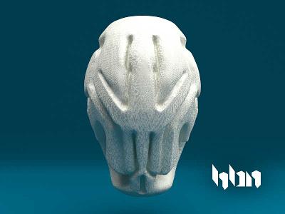 Skull Helmet sculpture 3d helmet mask skull