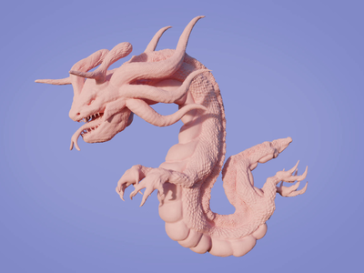 Airquake illustration artwork sculpture mexico 3d dragon