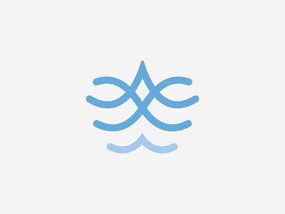 Modern and Elegant Wave Logo soft elegant modern icon logo wavey nature marine aquarius sea ocean aqua water wave