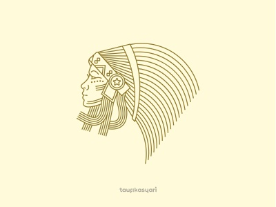 Beautiful Tribal Woman Logo vector girl icon graphic design identity branding logo ethnic fashion beauty tribe aztec beautiful woman tribal