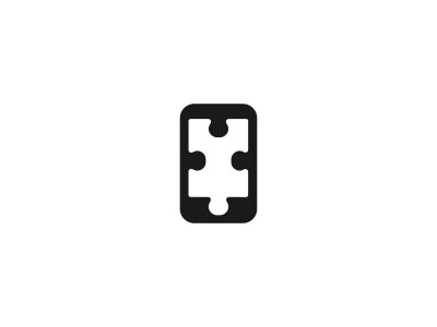 Phone Puzzle Logo Design logo icon identity design mark branding phone puzzle app black combo smart stuoka agency game apple