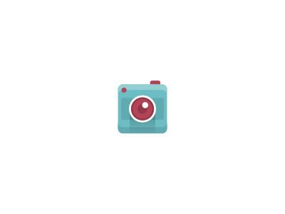Camera Icon icon icons mark camera image flat lens blue purple shading utopia stuoka agency design illustration