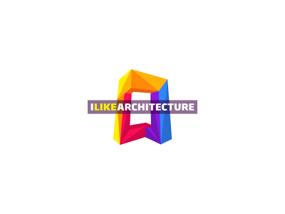 I Like Architecture Blog Logo Design logo icon identity design mark architecture house contemporary diagonal geometric triangles modern