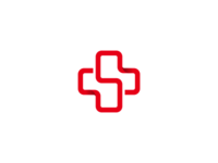 S + Cross Logo Design for a Website About Health