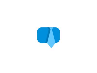 Online Job Board Logo Design logo icon identity design mark branding brand logotype chat bubble speech tie business