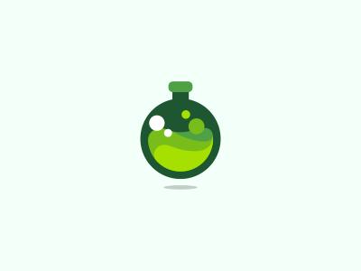 Green Flask Icon loog loogo logodesgn logo desgn lgodesign logo dsign logodsign desgn dsign lgo design logo icon identity design mark brand logotype green flask chemistry