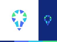 Spark Logo Design logo designer icons icon negative space creativity creative firework inspiration idea spark bulb lightbulb stationery brand identity branding logo