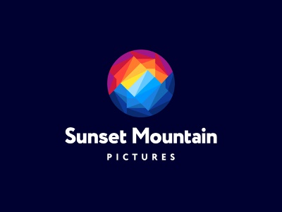 Sunset Mountain Logo Design logo design icon icons symbol mountain sun sunset sunrise landscape nature sky branding brand identity business cards stationery graphic design designer visual identity colorful vibrant
